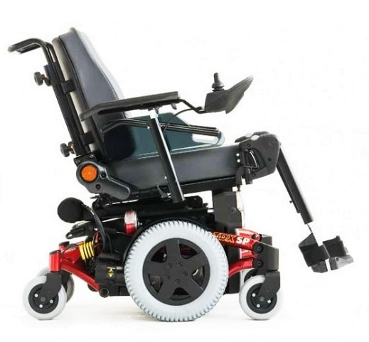 side view of an Invacare TDX Power Chair