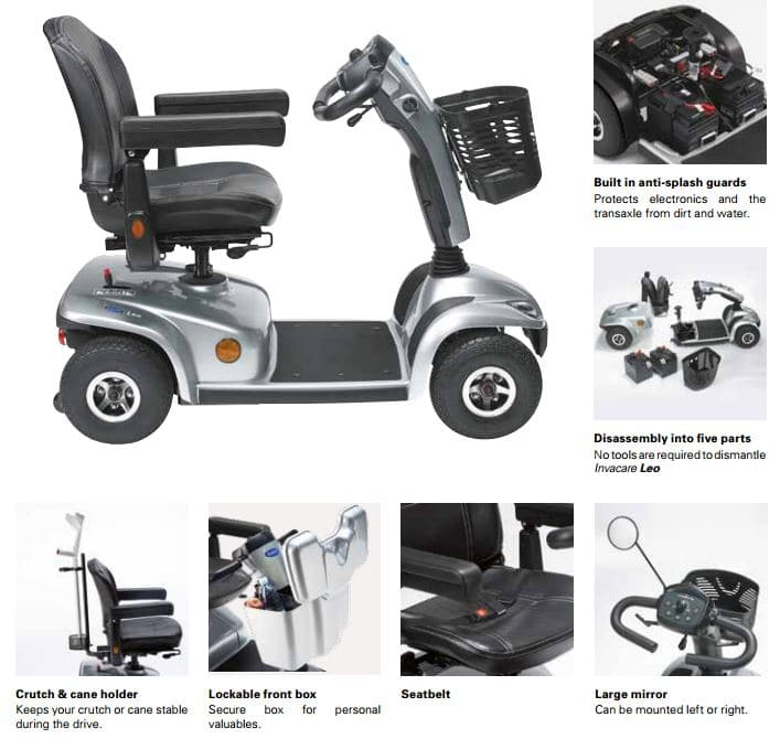 Invacare Leo mid range mobility scooter  images