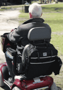 Mobility scooter storage bag