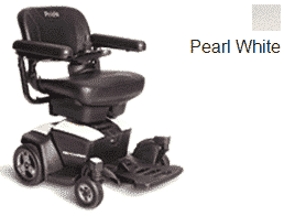 Pride Go Powered Electric Wheelchair Pearl White