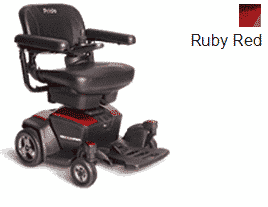 Pride Go Electric Powered Wheelchair Ruby Red