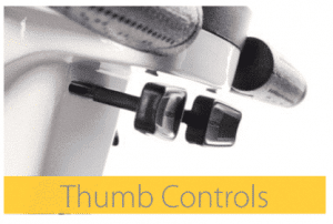Thumb controls on the cabin car mk2 scooter