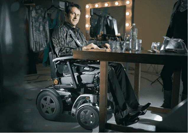 Adjustble height on the Storm 4 powerchair