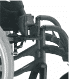 Brake and Brake extensions for a manual wheelchair