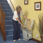 Handicare Simplicity Straight stairlift folding seat