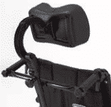 Head support for a manual wheelchair