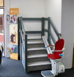 Working Stairlift at Maldon Mobility Shop