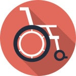 manual wheelchair icon