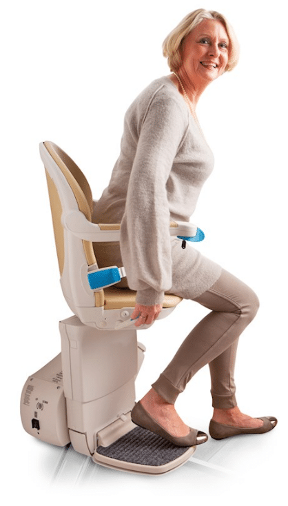 a swivel seat on a stairlift