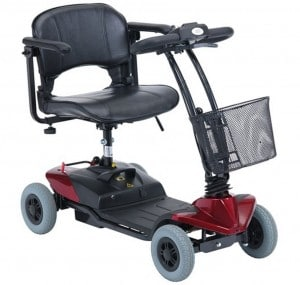 ST1 Lightweight mobility scooter in ruby red