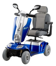 Kymco midi XLS mobility scooter in blue