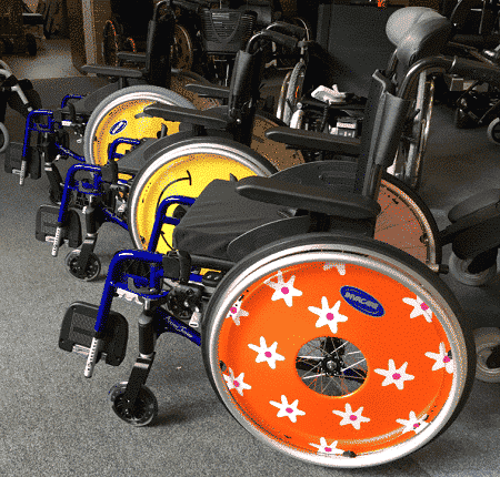 action junior paediatric wheelchairs with custom wheels
