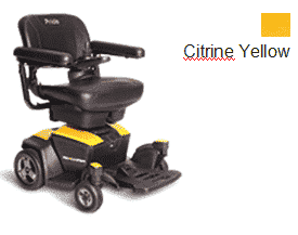 Pride Go Powered Electric Wheelchair Citrine Yellow