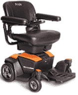 Pride Go Powered Electric Wheelchair Amber Orange