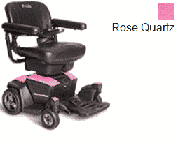 Pride Go Powered Electric Wheelchair Rose Quartz