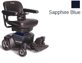 Pride Go Powered Electric Wheelchair Sapphire Blue