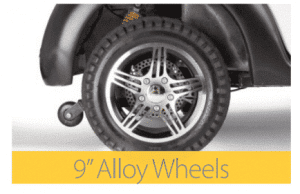 9 inch alloy wheels on the cabin car mk2 scooter