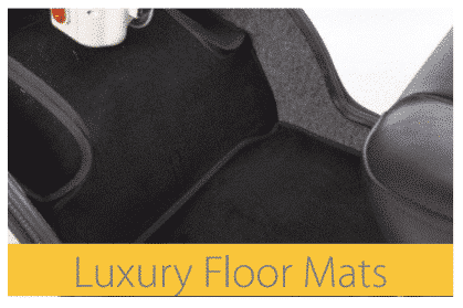 Luxury floor mats for a mobility scooter