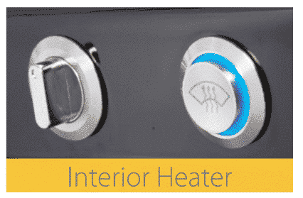 interior heater for a mobility scooter