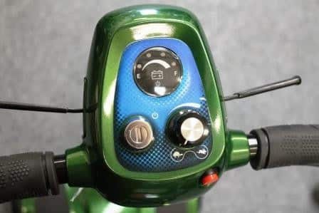 Lightweight mobility scooter control panel