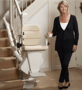Rembrant Stairlift fitted to the inside of the staircase