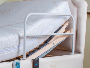 Grab rail for an electric bed