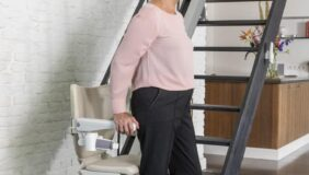 Boarding the Handicare 1100 Stairlift