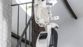 Handicare 1100 Stairlift at top of the stairs