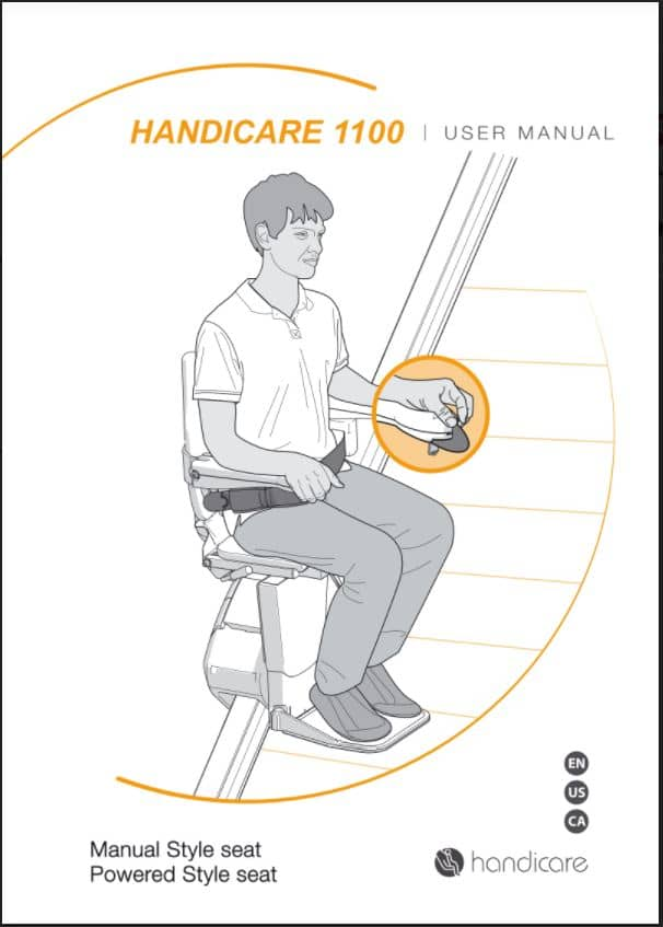 Handicare 1100 stairlift users manual