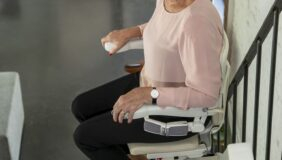 Riding the Handicare 1100 Stairlift