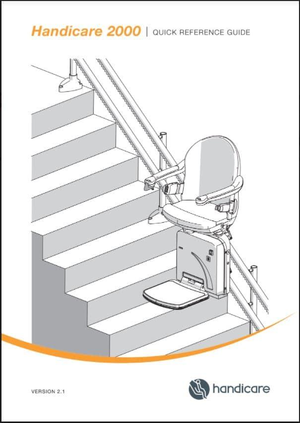 Handicare 2000 stairlift user manual