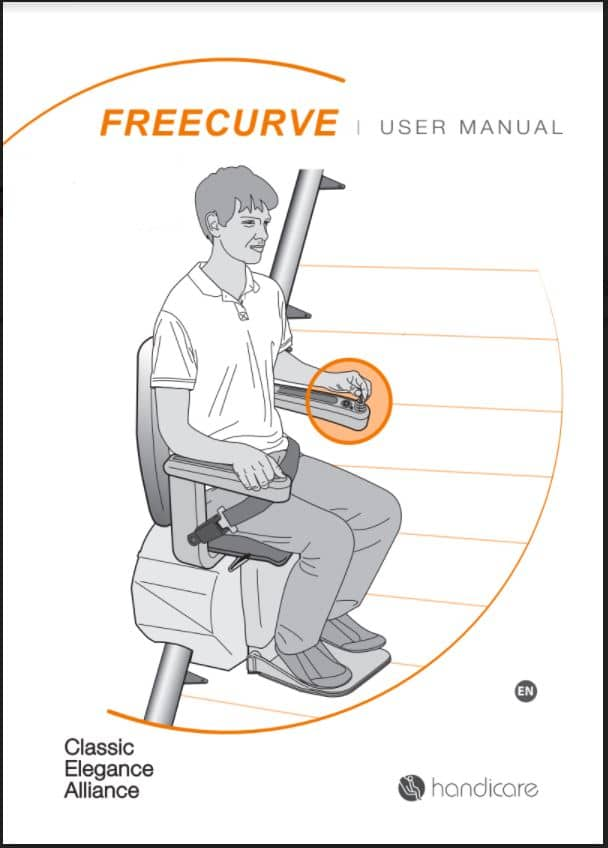 Handicare Freecurve stairlift user manual