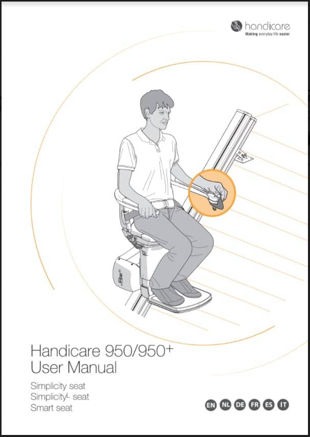 Handicare Simplicity stairlift user manual