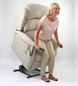 Primacare Denbigh Rise and Reclliner Chair Standing