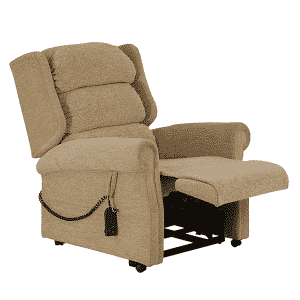 Rise and Recline Royal Chair Footrests Out
