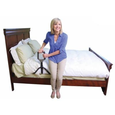 Woman Using Stander PT Bed Cane