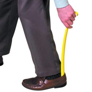 Plastic Shoehorn With Hook