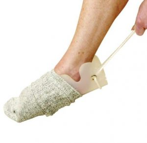 Sock and stocking aid for people with mobility and disability