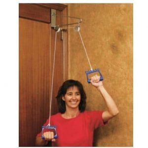 exercise pully with metal bracket