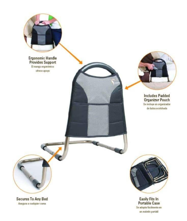 Stander bedside mobility features